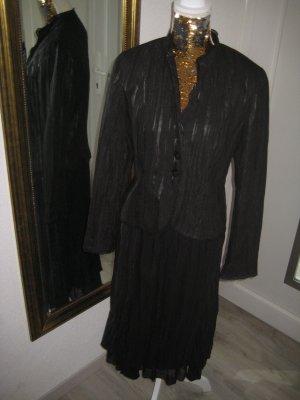 Kostüm Rock & Blazer Jacke schwarz Gr 38