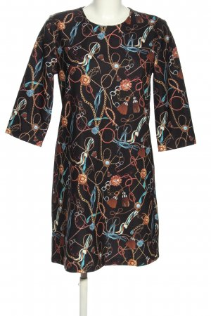 Koton A-Linien Kleid abstraktes Muster Casual-Look