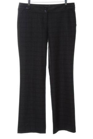 Koton Pantalon zwart-lichtgrijs geruite print zakelijke stijl