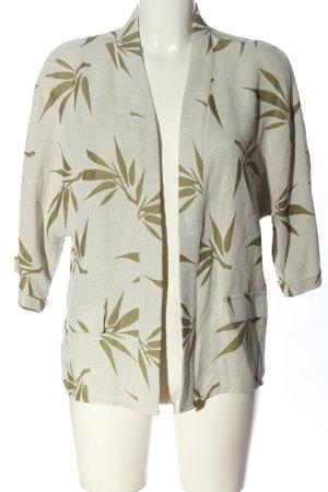 Koton Blouse Jacket light grey-khaki allover print casual look