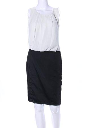 Koton Blusenkleid schwarz-weiß Casual-Look