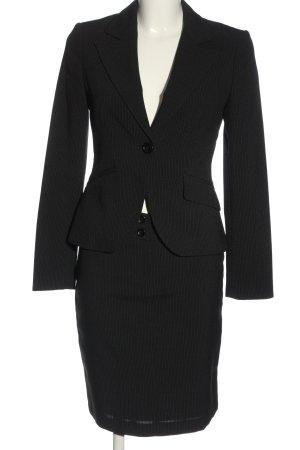 Koton Ladies' Suit black-light grey striped pattern business style
