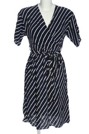 Koton Kurzarmkleid schwarz-weiß Streifenmuster Casual-Look