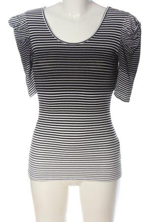 Koton Stripe Shirt white-black striped pattern casual look