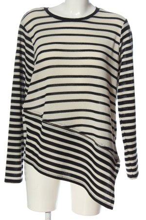 Koton Koszulka w paski biały-czarny Wzór w paski W stylu casual