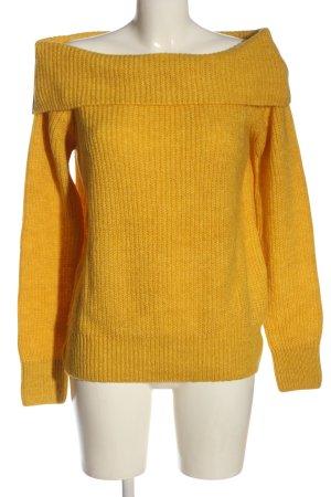Koton Maglione lavorato a maglia arancione chiaro punto treccia stile casual