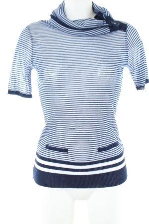 Koton Strickshirt blau-weiß Streifenmuster Casual-Look