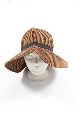 Koton Chapeau de paille brun-noir style décontracté
