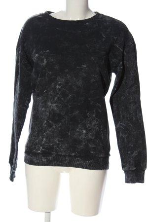 Koton Sweat Shirt black-light grey abstract pattern casual look