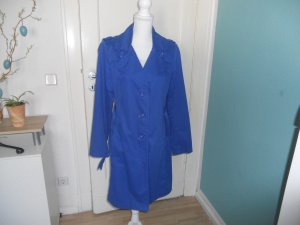 Yest Fashion Trench Coat steel blue cotton