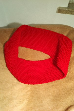 Tube Scarf red wool