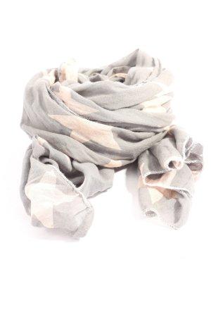 Krasilnikoff Summer Scarf light grey-cream allover print casual look