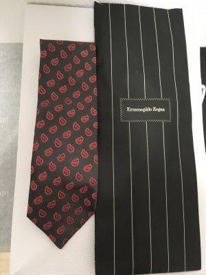 Ermenegildo Zegna Costume business gris foncé-rouge clair
