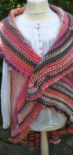 Handmade Long Knitted Vest dusky pink