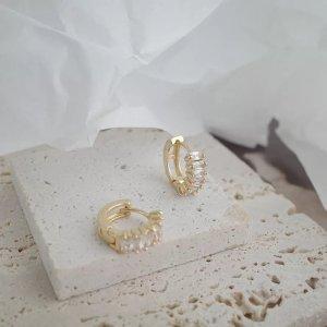 Kreolen Mini Hoops Ohrringe Gold Silber Neu !
