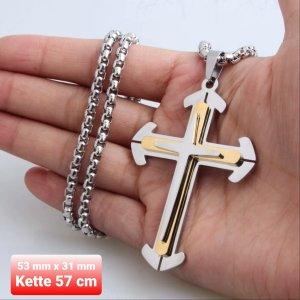 Kreuz Anhänger aus Chirurgenstahl mit Kette
