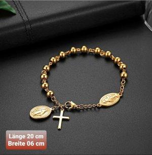 Kreuz Armband aus Chirurgenstahl
