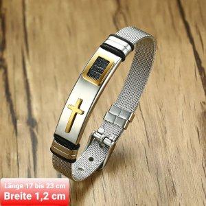 SmD Braccialetto sottile argento-oro