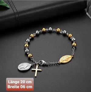 Kreuz Armband aus hochwertigem Chirurgenstahl