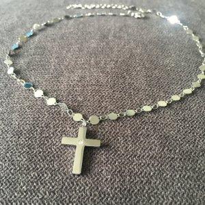 Kreuz Kette Cross Choker wasserfest