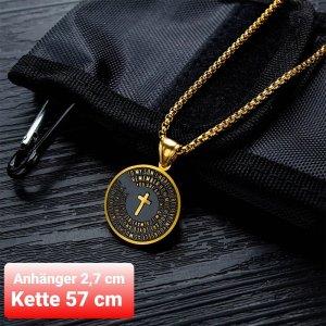 SmD Medallón negro-color oro