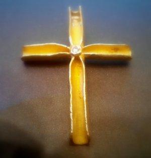 Breloczek złoto Tkanina z mieszanych włókien