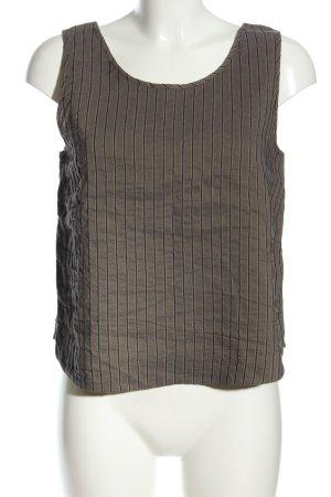 Krines Cropped Top braun-schwarz Streifenmuster Casual-Look