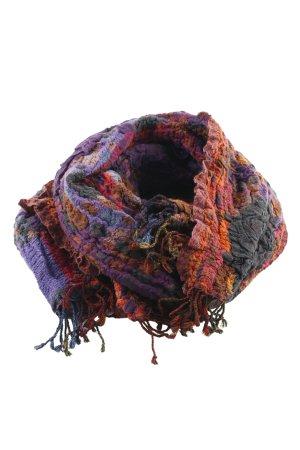 Écharpe froissée motif abstrait style extravagant