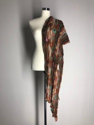 Écharpe froissée multicolore