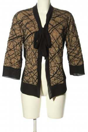 KRISS Chaqueta tipo blusa negro-nude estampado acolchado look casual