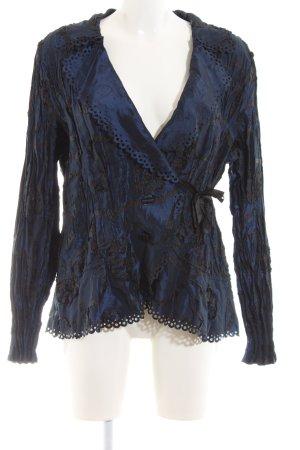 KRISS Blazer lungo blu-nero motivo astratto elegante
