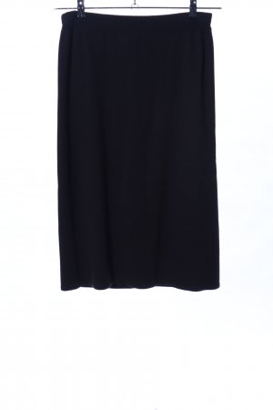 KRISS Knitted Skirt black casual look