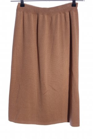 Kriss Sweden Knitted Skirt nude casual look