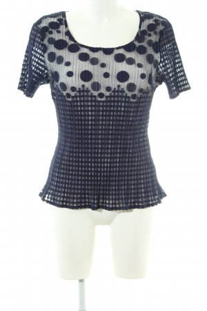 KRISS T-Shirt blau grafisches Muster Casual-Look