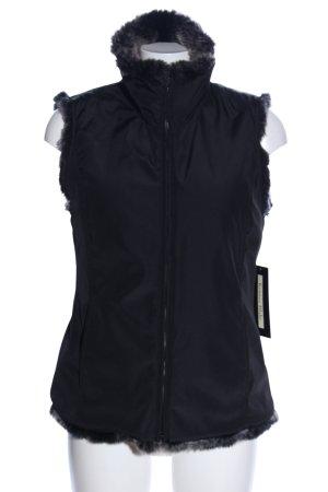 Kristen Blake Fur vest black casual look