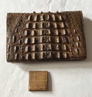 Krokodil Ridgeback Vintage Clutchbag aus 40er Jahren