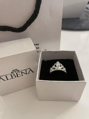 Kronen Tiara Ring Silber Edelstahhl Frauen Silberring Diamanten
