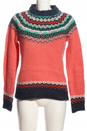 KRS & Co Grobstrickpullover Mustermix Casual-Look