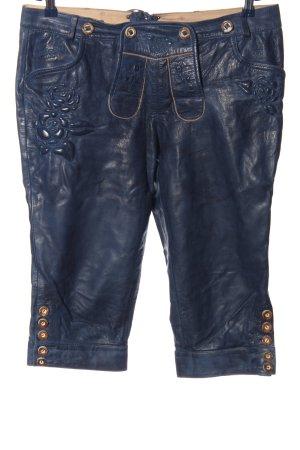 Krüger 3/4 Length Trousers blue wet-look