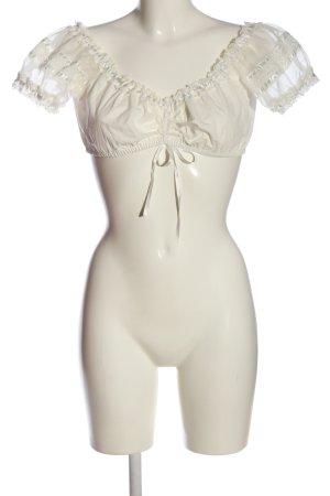 Krüger Blusa estilo Crash crema-blanco puro elegante