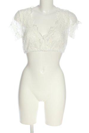 Krüger Camisa recortada blanco puro look casual