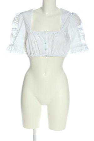 Krüger Blusa tradizionale bianco stile classico