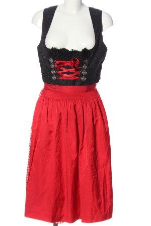 Krüger Dirndl red-black check pattern elegant