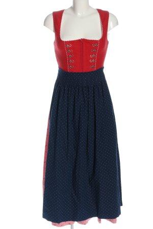 Krüger Dirndl red-blue check pattern classic style