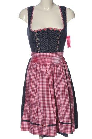 Krüger Dirndl blue-pink check pattern classic style
