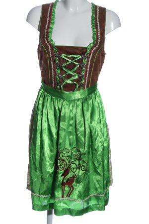 Krüger Dirndl brown-green elegant