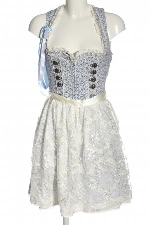 Krüger Dirndl natural white-blue allover print casual look