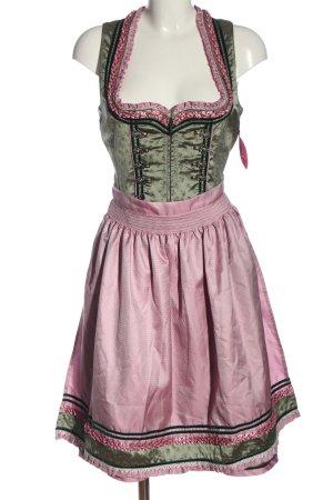 Krüger Dirndl cachi-rosa motivo floreale stile classico
