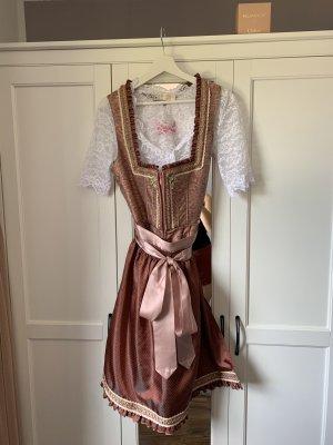 Krüger Dirndl Dirndl bordeaux-rosa pallido