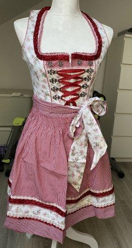 krüger dirndl tracht kleid girly weiß rot rosa blumen mädchenhaft